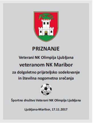 VNKO-2017-Plaketa za Veterane NK Maribor-November 2017